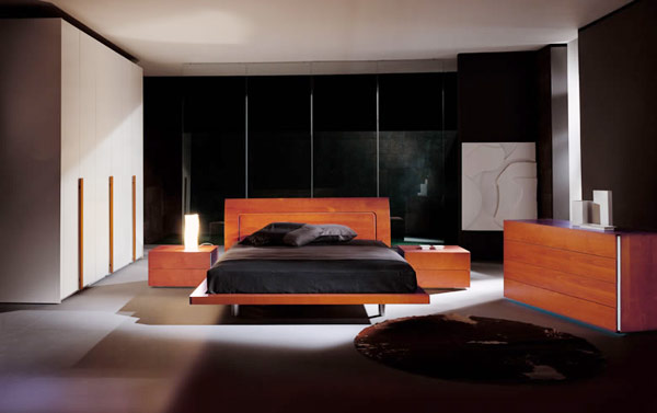 интерьер и дизайн спальни в стиле минимализм.